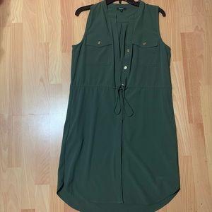 XOXO knee high dress olive green